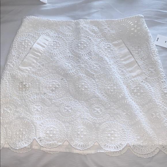 J. Crew Dresses & Skirts - J.Crew white eyelet mini skirt